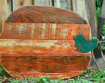 Medium rustic pumpkin - reclaimed wood - pallet wood - Autumn decor - Fall Decor - Halloween, Thanksgiving