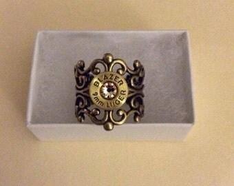 brass filligree bullet ring