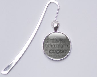 Bookmark Gifts for book lovers - Just one more Chapter Bookmark - Metal bookmarks - Readers Gifts (BGBL2)