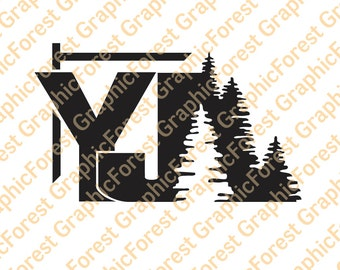 Jeep Wrangler YJ with Trees Decal