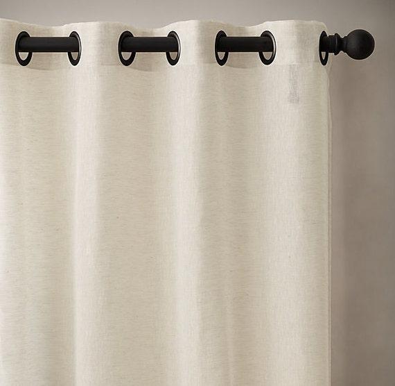 52'' Sheer Linen Grommets Panels - Bedroom curtains - Grommets Sheer ...