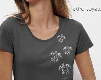 TURTLES organic cotton and modal tee shirt