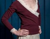 Pullover,Marsala Farbe,Jersey Pullover, Paris,Neue Kollektion,Herbst winter Pullover,Rote-Tulpe,Oberteil,Mode nach maaß,Damenpullover,Beige