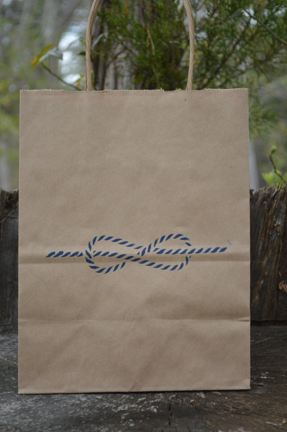 Kraft Paper Bags Wedding Welcome Favor Bags Knot