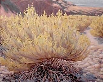 Original art  'Nevada Wash' landscape oil painting, plein air, desert, mountains,framed, Southwest art, large, western