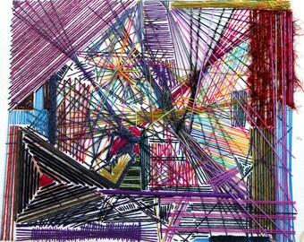 Yarn Abstract Painting
