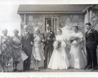 "Antique Snap ""Wedding Party"""