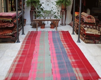Summer Sofra Rug/ Throw/ Blanket/Upholstery Fabrics - Bright Pink, Red, Blue, Mint Green 350x190cm - 137x74inches