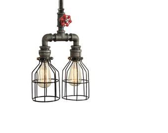 Steampunk Light - Pendant Lighting - Ceiling Lighitng - Modern pendant Lighting - Industrial Lighting - Lighting - Ceiling Fixtre  Bar Light