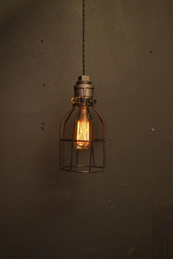 pendentif light pipe clair noir cage en m tal pendentif en. Black Bedroom Furniture Sets. Home Design Ideas