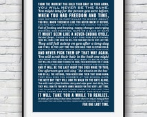The Last Time, poem for parents, nursery decor, baby shower gift, poem print, mothers day, typographic poster, nursery prints