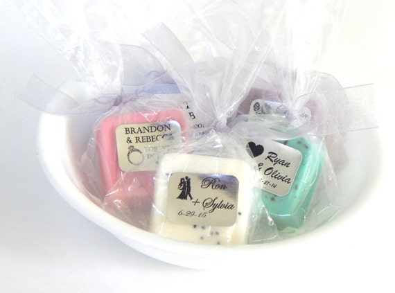 Wedding Gifts For Vegans : Soap BRIDAL SHOWER FAVORS Soap Favor Vegan Wedding Favors Personalized ...