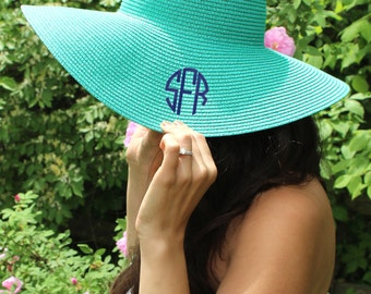 Monogrammed Beach Hat | Floppy Hat