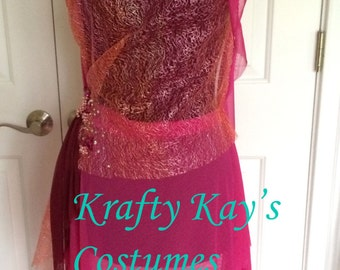 Custom Costume Dance or Pageant Pink Contemporary Lyrical Costume