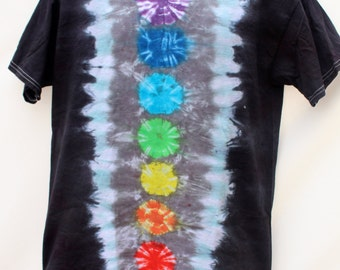 Tie Dye Chakra Shirt, Custom Order Tie Dye, Yoga Clothing, Trippy, Hippie T-Shirt