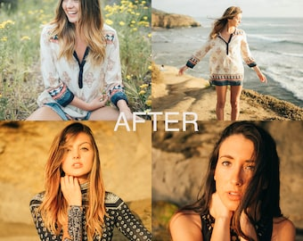 GOLDEN HOUR LR Preset / Photoshop Lightroom Preset / Editing Tool Film Emulation Wedding Portrait Photography Preset