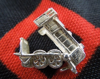 Vintage Sterling Silver Train Engine Charm Opens to Bon Voyage Charm for Bracelet from Charmhuntress 01808