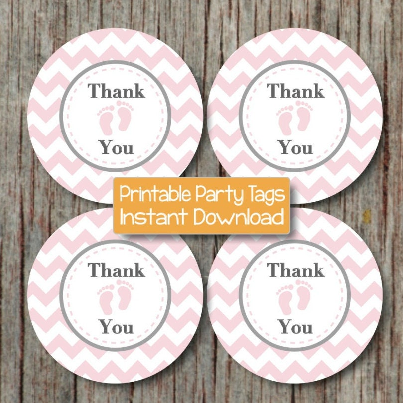 instant download thank you tags baby shower printable party