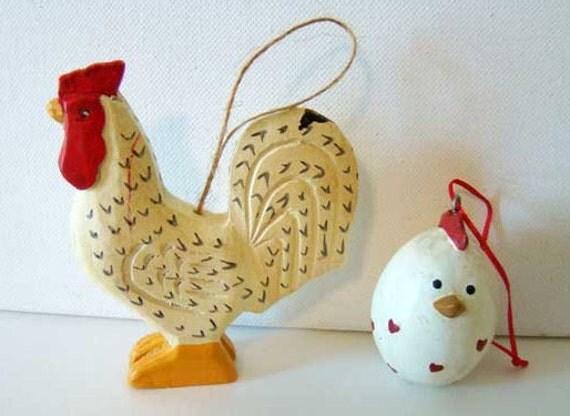Super Wooden Chicken Chicken Ornament Chicken And Egg By Thegaydivorcee Easy Diy Christmas Decorations Tissureus