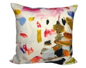 "Pierre Frey ""Arty"" -  Designer Pillow Cover - 1 SIDED OR 2 SIDED - Made to Order - Choose Your Size"