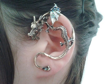 Dragon ear wrap dragon ear cuff game of thrones inspired - Game of thrones dragon ear cuff ...