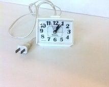 Vintage Westclox Alarm Clock Dialite Orange Glow Snooze