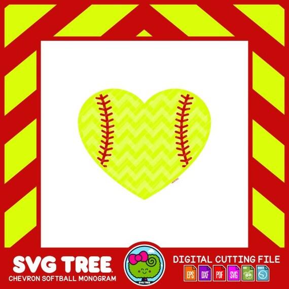 Softball SVG Softball Heart SVG Fastpitch Softball Softball