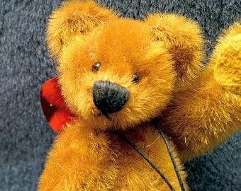 """2 1/2"""" tall SCRUFFY miniature artist teddy bear by Lisa Lloyd"""