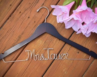 SALE Bridal Hanger, Bride Hanger, Name Hanger, Wedding Hanger, Personalized Bridal hanger, Bridal Gift, Bridesmaid Hanger