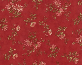Atelier Floral Fabric by 3 Sisters for Moda Fabrics 44053 13 Red/Scarlet - 1/2 yard