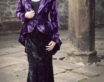 Velvet Bustle Jacket, PURPLE - XS Only