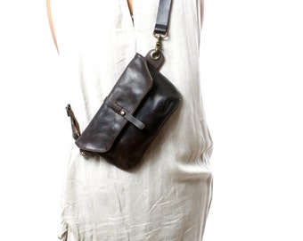 Hip Bag - Fanny Pack - Leather Hip Pouch- Traveler Bag - Utility Hip Belt