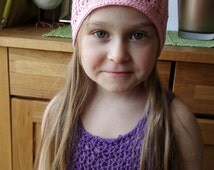 Cotton spring hat, light beanie for spring. Kids hat.
