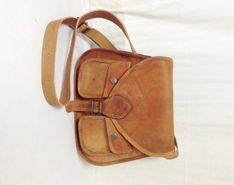 Cross Body Purse, brown leather cross body, saddle bag purse, shoulder bag