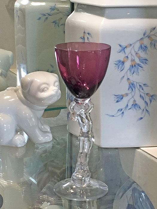 Cambridge Nude Stem Statuesque Amethyst True Wine Glass