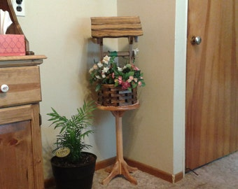 Wishing Well Planter with a Special walnut finish