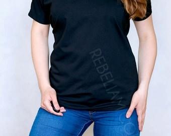 Off shoulder tunic t-shirt short for women