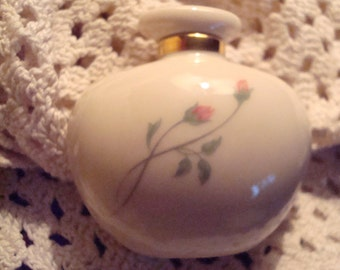 Vintage Lenox Rose Manor Perfume Bottle - Circa 1980's -Excellent!!