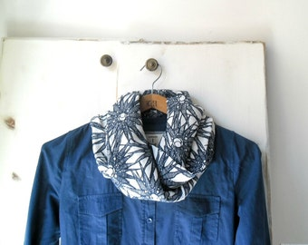 Cotton scarf, blue scarf, lightweight scarf, infinity scarf, spring accessories