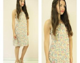 Vintage Floral 90s Dress