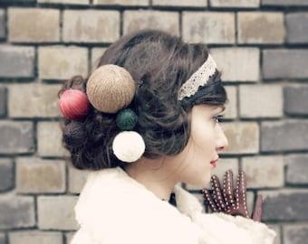 san valentin - romantic hair accessories - yarn ball hair pin - hair accessories - hair pin - sale - fall gifts - valentine's gift