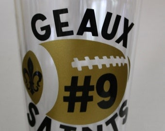 Geaux Saints Football Tumbler - Personalized