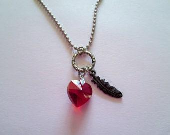 Hush Hush Saga Inspired Charm Necklace