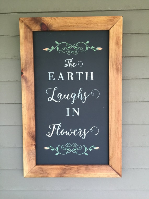 Rustic Framed Chalkboard Quote Porch Decor