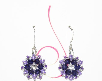 """Purple """"Flower"""" Earrings"""
