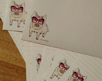 Pig Stationery Set ~ Writing Paper and Envelopes