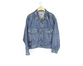 90s Grunge Oversize Denim Jacket Etsy De