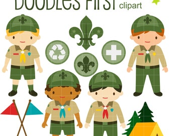 Clip Art Boy Scout Clip Art boy scout clipart etsy junior scouts clip art for scrapbooking card making cupcake toppers paper crafts