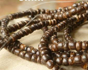 3mm Coconut Shell Rondelle Beads - Eco Friendly Beads - Coconut Shell Beads - Rondelle Beads - Natural Beads - Coconut Rondelles