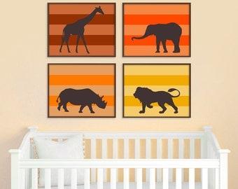 Jungle Nursery Art, Nursery Art Print, Safari Animal Print, Baby Nursery Decor, African Animal Print, Zoo Nursery, Modern Home Decor